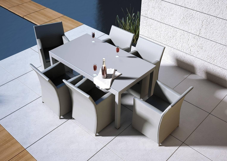 Zahradní stůl TOLEDO/hliník šedý