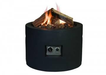 Kulaté plynové ohniště černé