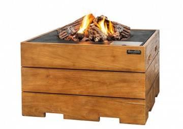 Ohniště z teakového dřeva 76x76x46cm