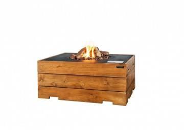 Palenisko gazowe z drewna teakowego 107x80x46cm