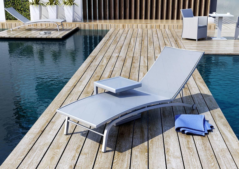 Zahradní stolek GRENADA šedý