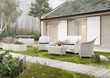 Zahradní souprava LEONARDO royal bílá