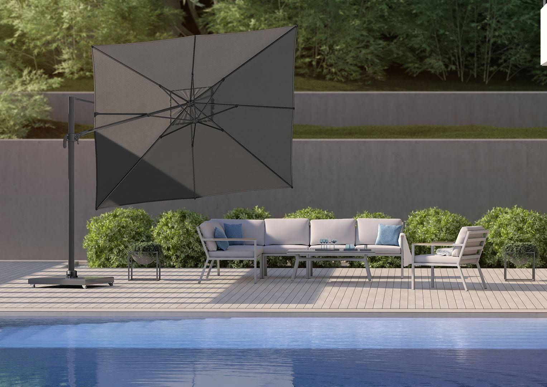 FALCON T² zahradní slunečník 2,7m x 2,7m