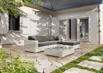 Zahradní souprava MILANO I bílá 2