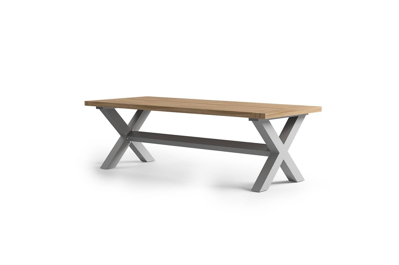 Zahradní stůl BILBAO teak/hliník