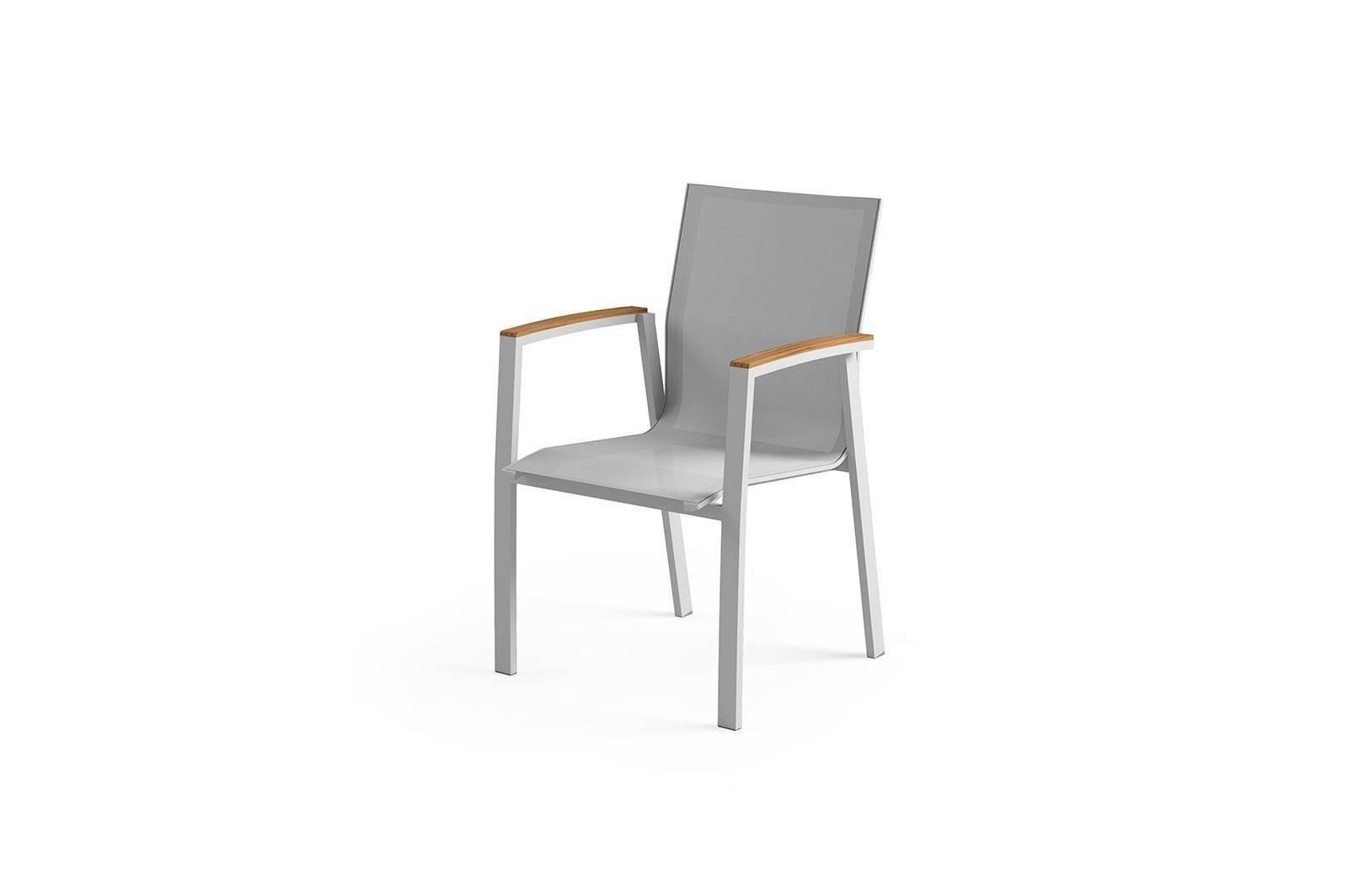 Zahradní hliníková židle LEON teak