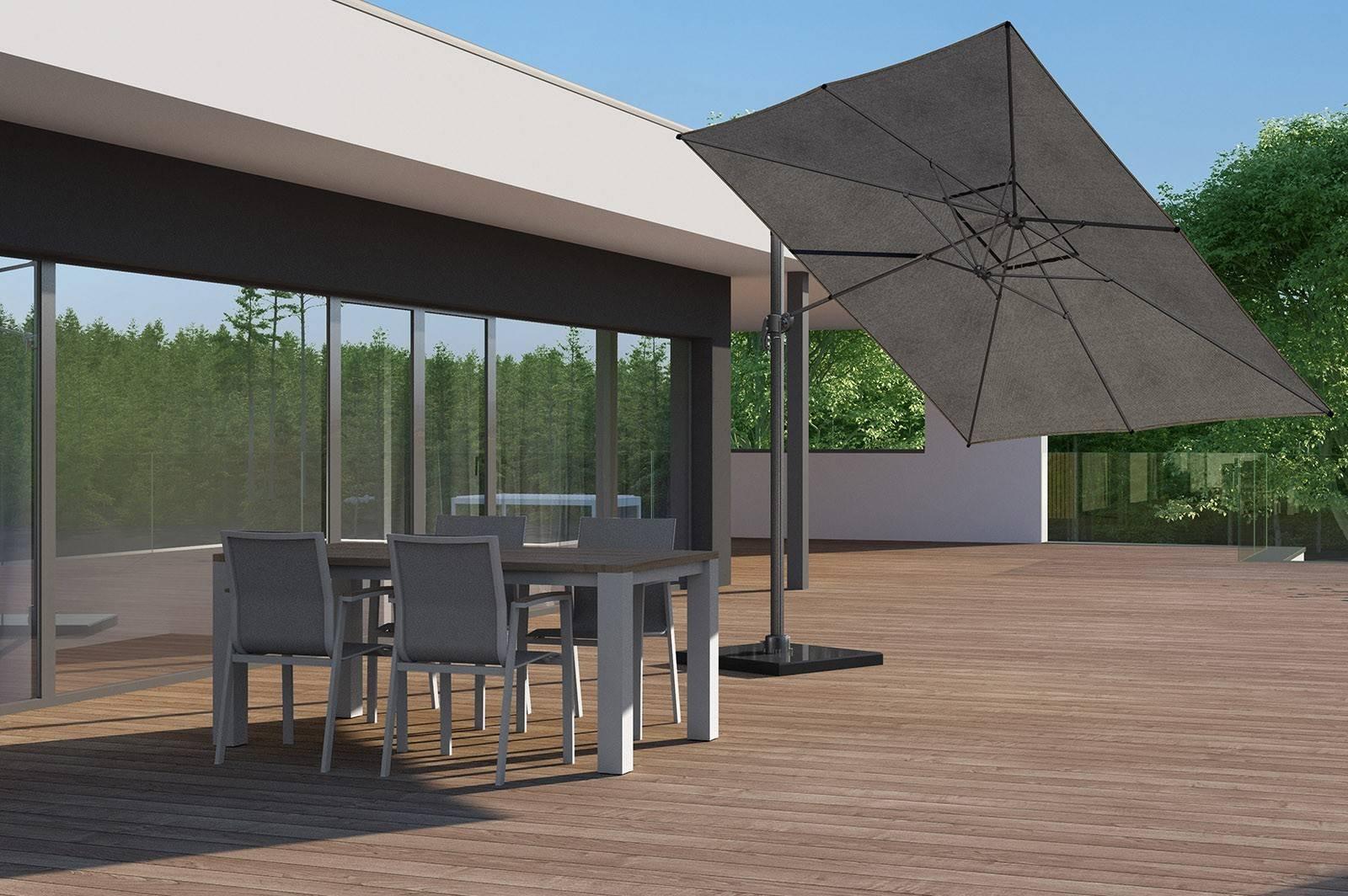 Zahradní hliníková souprava MADRIT - LEON teak světle šedá