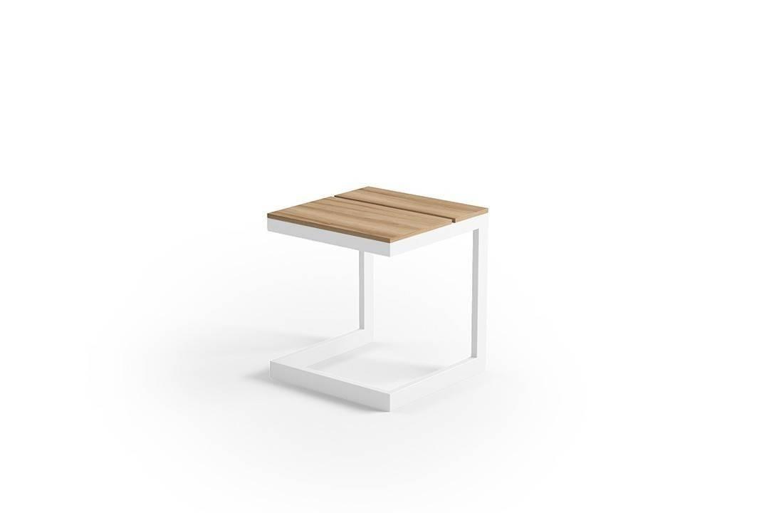 Zahradní stolek GRENADA teak bílý