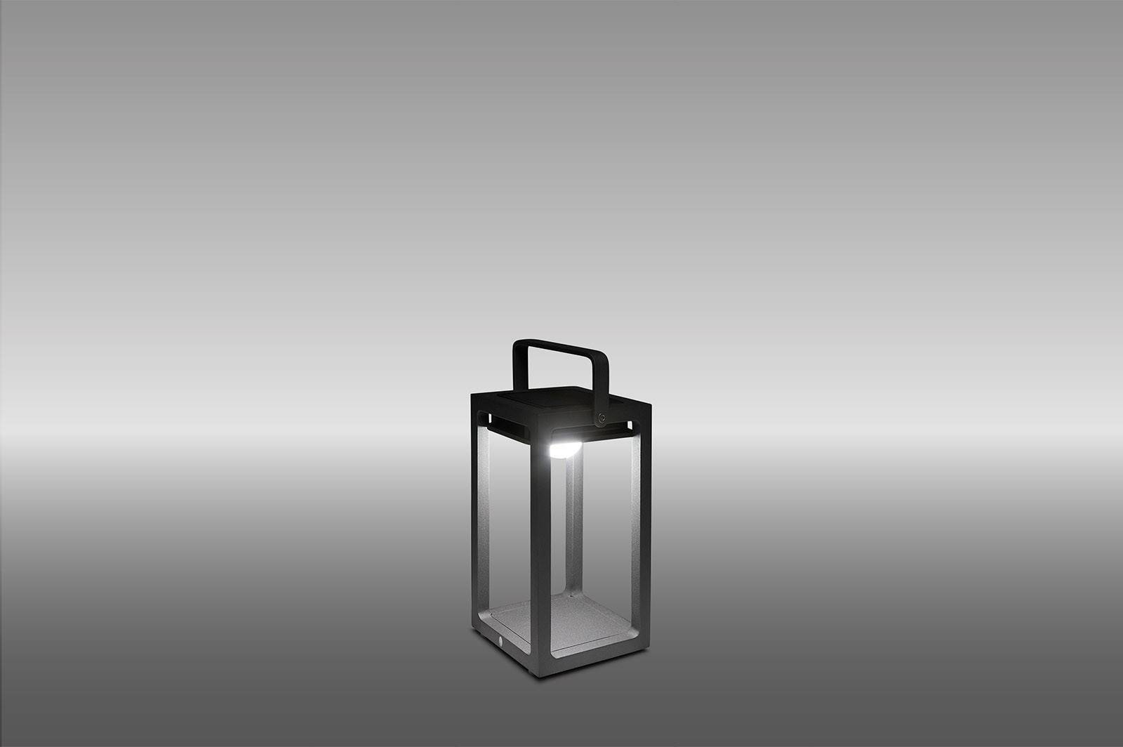 SOLÁRNÍ LAMPA JACK ROYAL GREY 14X14X26 CM