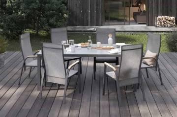 Zahradní hliníková židle ALICANTE teak antracit