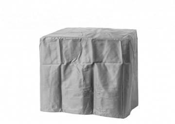Čtvercové plynové ohniště 76 cm šedé