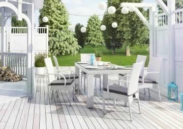Zahradní souprava  RAPALLO 160 royal bílá